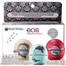 Набор из 3 новогодних бальзамов для губ EOS